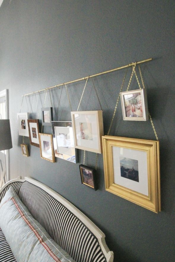 Hanging Art On A Picture Rail Little Green Notebook